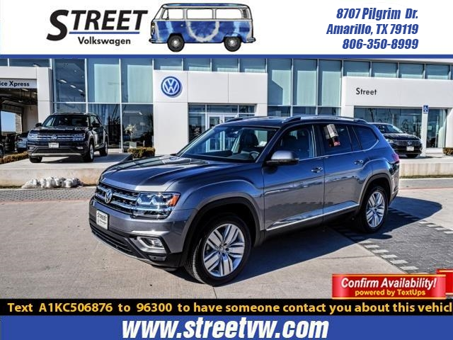 New 2019 Volkswagen Atlas 3.6L V6 SEL 4MOTION AWD