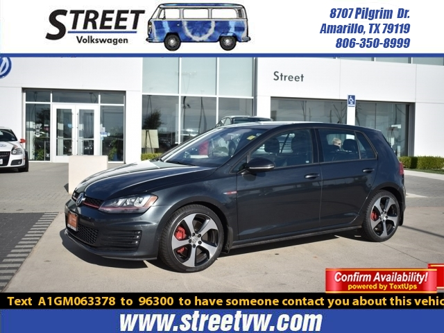 Certified Pre-Owned 2016 Volkswagen Golf GTI 4DR HB DSG AUTOBAHN W/PERFORMANCE PKG