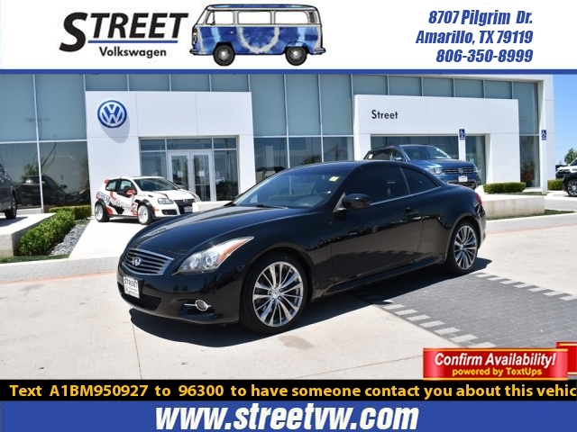 Pre-Owned 2011 INFINITI G37 Convertible 2DR SPORT 6MT