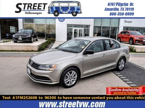 Certified Pre-Owned 2015 Volkswagen Jetta Sedan 4DR AUTO 2.0L S W/TECHNOLOGY