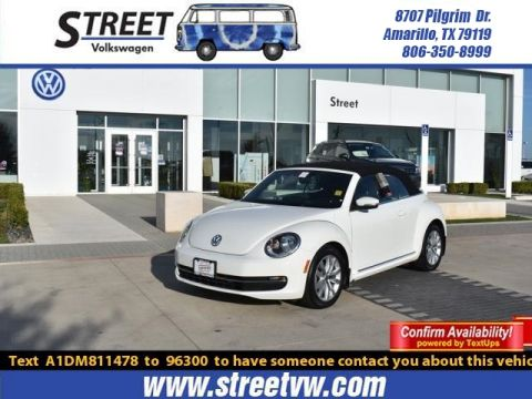 Pre-Owned 2013 Volkswagen Beetle Convertible 2DR DSG 2.0L TDI W/SOUND/NAV