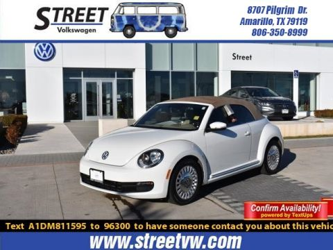 Certified Pre-Owned 2013 Volkswagen Beetle Convertible 2DR AUTO 2.5L