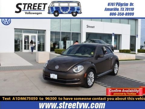 Certified Pre-Owned 2013 Volkswagen Beetle Coupe 2DR DSG 2.0L TDI W/SUN/SOUND/NAV